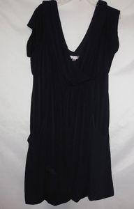 AA Studio Black Swag Cross Front Dress 22W Plus